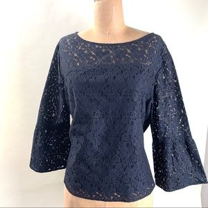 Gap Lace blouse bell sleeve